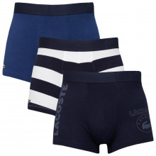 Lacoste Mens 2021 5H0001 3 Pack Cotton Stretch Jersey Fashion Boxer Trunks