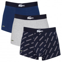 Lacoste Mens 2021 5H1774 3 Pack Lifestyle Cotton Stretch Boxer Trunks