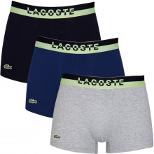 Lacoste Mens 2020 5H3388 Stretch Sport Inspired Crocodile 3 pack Boxer Briefs