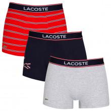 Lacoste Mens 2020 5H3424 Soft Touch Stretch Crocodile 3 pack Boxer Briefs