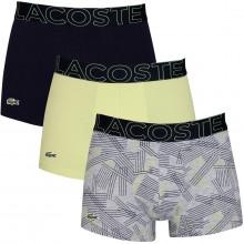 Lacoste Mens 2020 5H5581 Stretch Fabric Crocodile 3 pack Boxer Briefs
