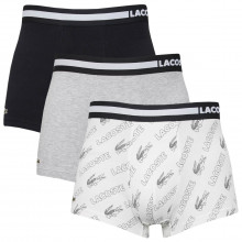 Lacoste Mens 2021 5H9981 3 Pack Fashion Cotton Stretch Jersey Boxer Trunks