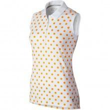Nike Golf Womens Precision Sleeveless Print Dri-FIT Polo Shirt