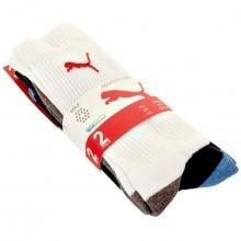 Puma Golf Mens Performance Crew Sport Socks - 2 Pair Pack