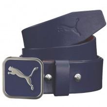 Puma Golf Mens Square Fitted Leather Strap Cat Golf Belt