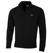 Lacoste Mens Full Zip Lambswool Sweater Jacket