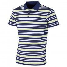 Bobby Jones Mens XH2O Gulf Pique Stripe Golf Polo