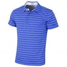 Bobby Jones Mens Barley Texture Stripe Golf Polo Shirt