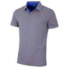 Bobby Jones Mens Liquid Cotton Feed Stripe Golf Polo Shirt