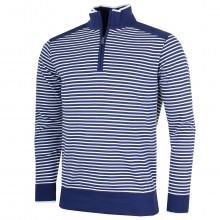 Bobby Jones Mens Pima Cotton Striped 1/4 Zip Pullover