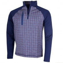 Bobby Jones Mens XH20 Grid Print 1/4 Zip Pullover