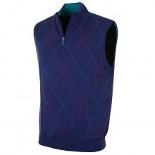 Bobby Jones Mens Extra Fine Merino 1/4 Zip Wind Vest