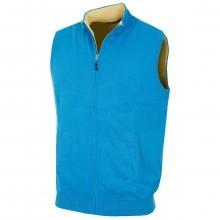 Bobby Jones Mens Cotton/Merino Full Zip Vest