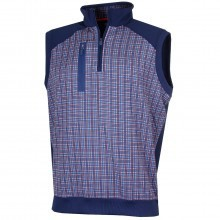 Bobby Jones Mens XH20 Grid Print 1/4 Zip Vest