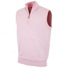 Bobby Jones Mens Merino 1/4 Zip Lined Vest