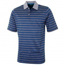 Bobby Jones Mens Luxury Cotton Flier Jac Stripe Golf Polo Shirt