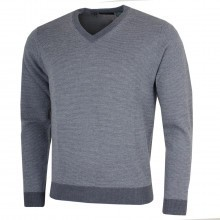 Bobby Jones Mens Merino Birdseye V-Neck Sweater
