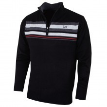 Cutter & Buck Mens Striped Lined Windblock Sweater