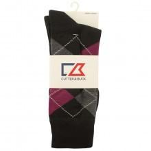 Cutter & Buck Mens Argyle Golf Socks - 1 Pair