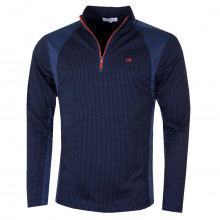 Calvin Klein Mens 2021 Micro Grid CK 1/2 Zip Mid Layer Pullover