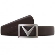 Callaway Golf Mens New Modern Chev Buckle Leather Belt