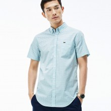 Lacoste 2016 Mens Slim Fit Button Collar Cotton Check Shirt