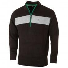 Calvin Klein Golf Mens Ribbed Lined Half Zip Windproof Sweater