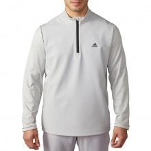 Adidas Golf Mens climawarm Hybrid Heathered 1/4 Zip Pullover