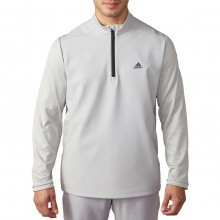 Adidas Golf Mens climawarm Hybrid Heathered 1/4 Zip Pullover