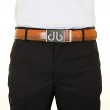 Druh Mens Premium Leather Golf Belt - 2 Buckles