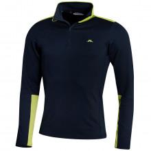J. Lindeberg Mens Garry Moisture Wicking Stretch 1/4 Zip Golf Sweater