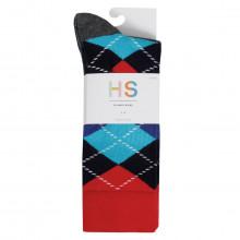 Happy Socks Mens 2021 Waterfall 3-Pack Regular Fit Comfort Cotton Socks