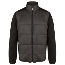 Island Green Mens Quilted Panel Golf Jacket