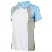 Island Green 2017 Ladies 1/4 Zip Contrast Polo Shirt