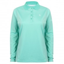 Island Green Ladies Long Sleeve Golf Polo Shirt