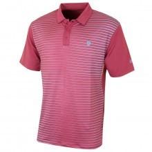 Island Green Mens Stripe Detail Golf Polo Shirt