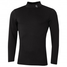 ZeroFit Mens Heat Rub Move Mock Neck Moisture Wicking Quick Dry Baselayer