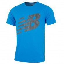 New Balance Mens Accelerate SS Graphic T Shirt