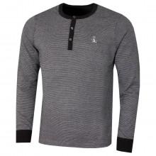 Original Penguin Mens 2021 Henley End-on-End Button Neck Pete Logo Golf Sweater