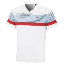 Original Penguin Mens 2021 Caddy-O Stripe Stretch 3 Button Golf Polo Shirt