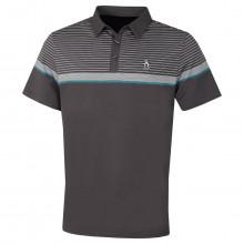 Original Penguin Mens 2021 Engineered Fine Line Stripe Logo Golf Polo Shirt