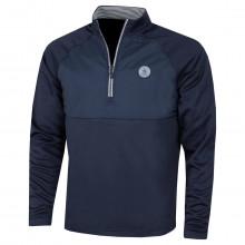 Original Penguin Mens 2021 1/4 Zip Mixed Media Layering Midlayer Golf Sweater
