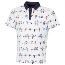 Original Penguin Mens 2021 Parrot's Club Stretch 3 Button Golf Polo Shirt
