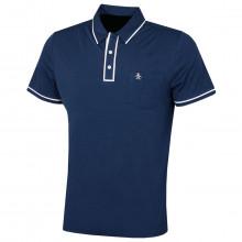 Original Penguin Mens 2021 Golf Earl Left Chest Pocket 3 Button Polo Shirt