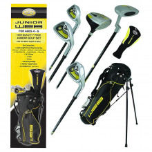 Go Junior Web Box Lightweight Comfort Strap Stand Bag Golf Club Set