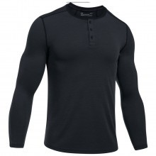 Under Armour Mens UA Threadborne Fitted Knit Henley T
