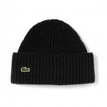 Lacoste Mens 2018 RB2729 Ribbed Wool Turned Edge Beanie Winter Wooly Hat