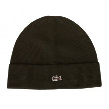 Lacoste Mens 2018 RB9868 100% Jersey Wool Color Shade Crocodile Beanie Hat