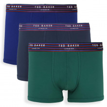 Ted Baker Mens 2021 Breathable Cotton Heatseal 3-Pack Trunk Boxer Briefs