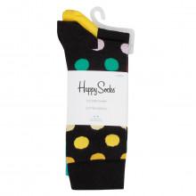 Happy Socks Mens 2021 Big Dot Novelty Cotton Comfort Regular Fit 2 Pack Socks